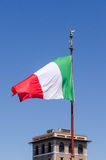 Het Italiaanse vlag blazen Royalty-vrije Stock Fotografie