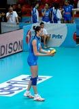 Het Italian team van Serena Ortolani Volleyball Stock Foto's