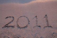 Het jaar 2011 komt Stock Foto