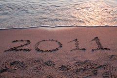 Het jaar 2011 komt Stock Afbeelding
