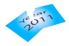 Het jaar 2011 is reeds over Stock Foto's