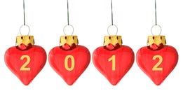 Het jaar 2012 komt! Stock Foto