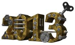 Het jaar 2013 Stock Afbeelding