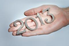 Het jaar 2013 is hier Stock Afbeelding