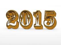het jaar 3D aantallen van 2015 Stock Afbeeldingen
