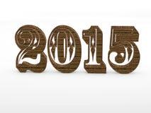 het jaar 3D aantallen van 2015 vector illustratie
