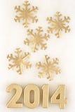 het jaar gouden cijfers van 2014 Stock Afbeeldingen