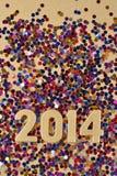 het jaar gouden cijfers van 2014 Royalty-vrije Stock Foto