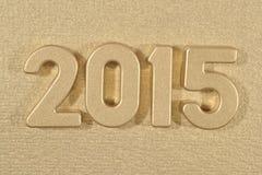 het jaar gouden cijfers van 2015 Royalty-vrije Stock Foto's