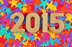 het jaar gouden cijfers van 2015 Stock Foto's
