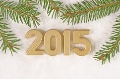 het jaar gouden cijfers van 2015 Royalty-vrije Stock Foto