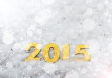 het jaar gouden cijfers van 2015 Royalty-vrije Stock Fotografie