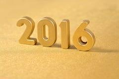 het jaar gouden cijfers van 2016 Royalty-vrije Stock Fotografie