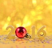het jaar gouden cijfers van 2016 Stock Foto