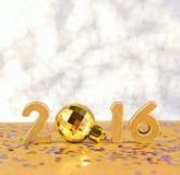 het jaar gouden cijfers van 2016 Stock Foto's