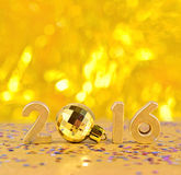 het jaar gouden cijfers van 2016 Stock Fotografie