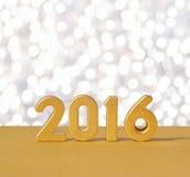 het jaar gouden cijfers van 2016 Royalty-vrije Stock Afbeelding