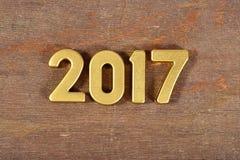 het jaar gouden cijfers van 2017 Stock Fotografie
