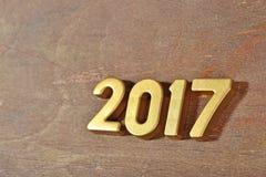 het jaar gouden cijfers van 2017 Stock Foto's