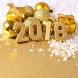 het jaar gouden cijfers van 2018 Stock Fotografie