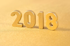 het jaar gouden cijfers van 2018 aangaande gouden Royalty-vrije Stock Afbeeldingen