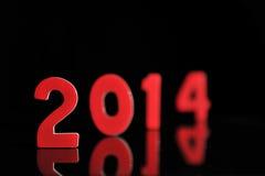 Het jaar 2014 in houten aantallen samen Royalty-vrije Stock Afbeeldingen