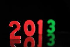 Het jaar 2013 in houten aantallen samen Stock Foto