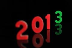 Het jaar 2013 in houten aantallen samen Stock Afbeelding