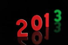 Het jaar 2013 in houten aantallen samen Stock Fotografie