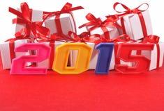 het jaar kleurrijke cijfers van 2015 Royalty-vrije Stock Fotografie