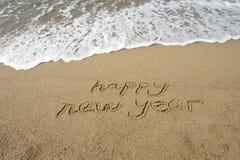 het jaar van 2011 op zand Royalty-vrije Stock Foto's