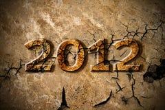 het jaar van 2012 van aardbeving Stock Foto