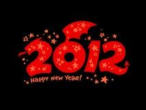 het jaar van 2012 van het draakontwerp. Royalty-vrije Stock Foto's