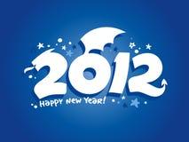het jaar van 2012 van het draakontwerp. Royalty-vrije Stock Afbeelding
