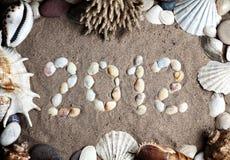 het jaar van 2012 van zeeschelpen Stock Afbeelding