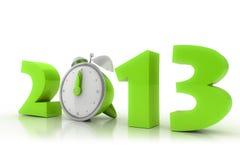 het jaar van 2013 met wekker Stock Fotografie