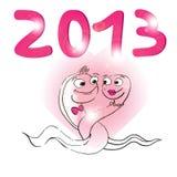 het jaar van 2013 van de slang Stock Afbeeldingen