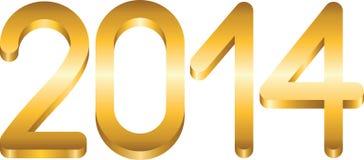 het jaar van 2014 Stock Foto's