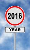 het jaar van 2016 Royalty-vrije Stock Foto