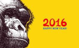 Het jaar van aap Royalty-vrije Stock Foto