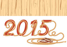 Het jaar van de cowboylasso 2015 Vector illustratie Royalty-vrije Stock Foto