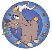 Het jaar van de geit Chinees horoscoopbeeldverhaal Stock Foto