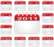 Het jaar van de kalender 2011 vector illustratie