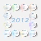 Het jaar van de kalender 2012 stock illustratie