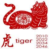 Het jaar van de tijger stock illustratie
