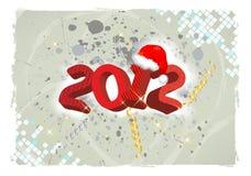 Het jaar van Grunge 2012 Royalty-vrije Stock Afbeeldingen