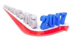 het jaar van 2017 van keerpuntconcept Stock Foto's