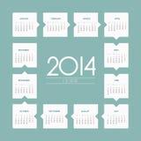 het jaar vectorkalender van 2014 Stock Fotografie