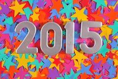 het jaar zilveren cijfers van 2015 Royalty-vrije Stock Afbeeldingen