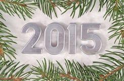 het jaar zilveren cijfers van 2015 Royalty-vrije Stock Foto